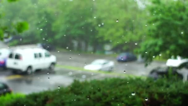 raindrops in slow motion