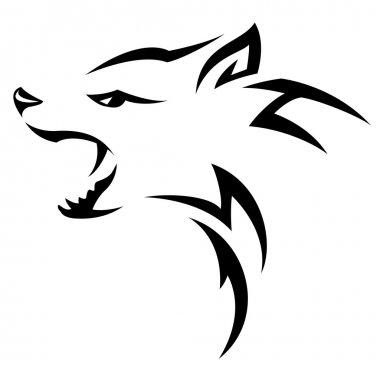 Hyenas head Tribal tattoo design