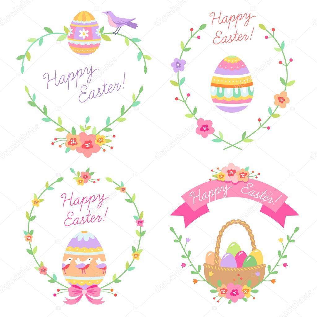 set of easter floral frames stock vector 67238033 - Easter Picture Frames