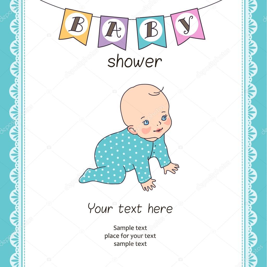 Vorlage für Baby-Dusche-Karte — Stockvektor © reinekke #85903168