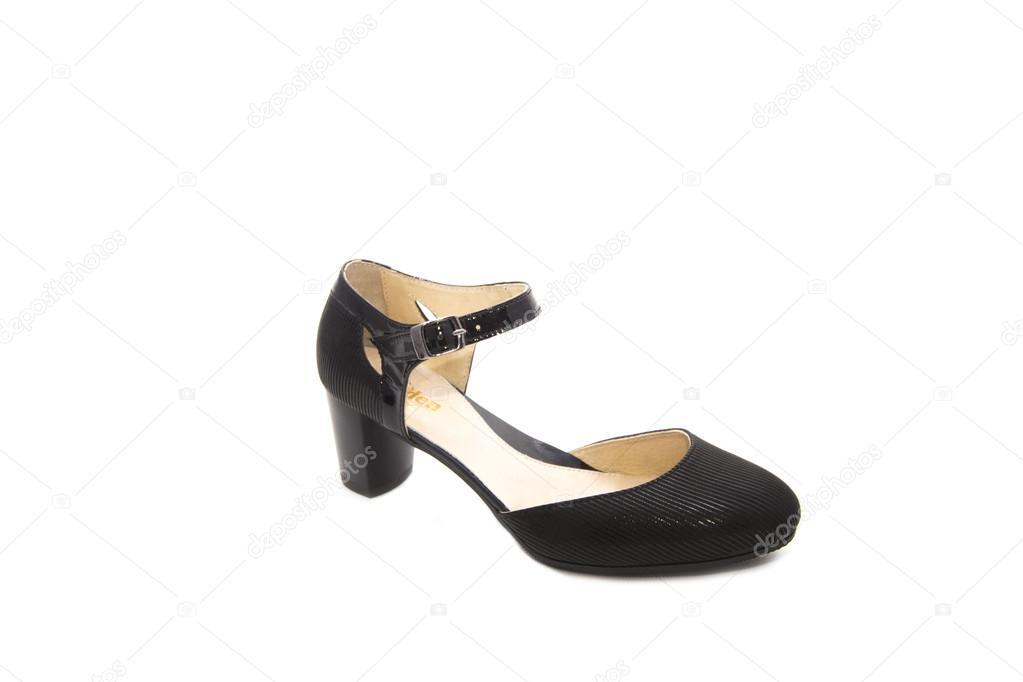 e2357718a Mulher de sapatos pretos — Fotografias de Stock © littlekzaka@gmail ...