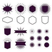 Burgunder-Set von leeren und Kontur-Design-Elemente auf weißem Hintergrund
