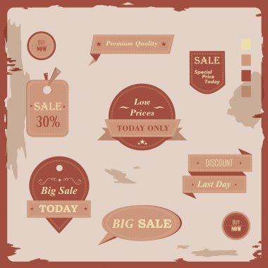Set vintage retro labels ceative design vector illustration