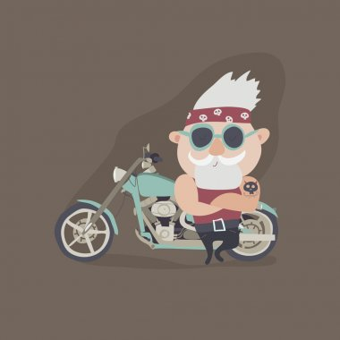 My grandfather forever young biker