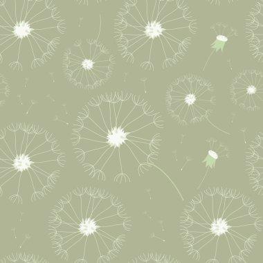 Seamless dandelions pattern