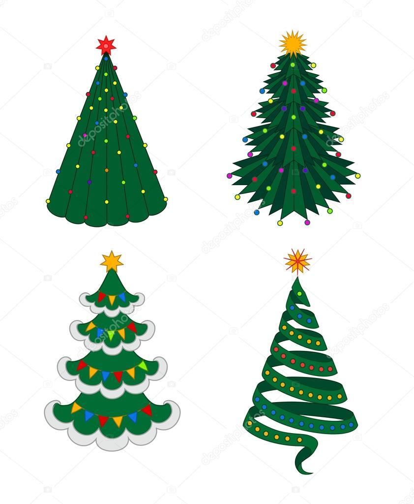 christmas fir-tree set