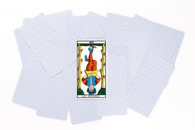 Tarot card hanged draw