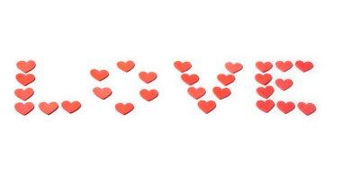Sevgililer günü kırmızı kalp dekorasyon