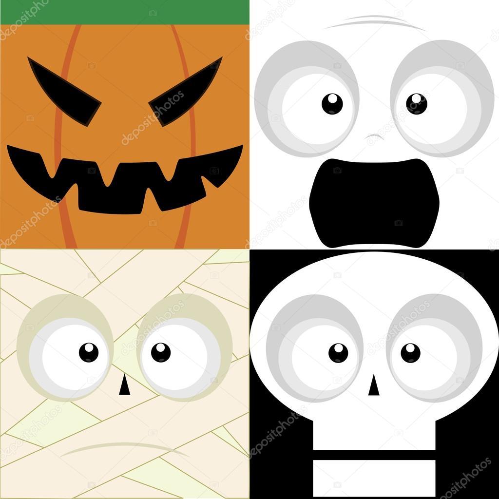 Halloween Masker Maken.Halloween Maskers Stockvector C Laudiseno 78531954