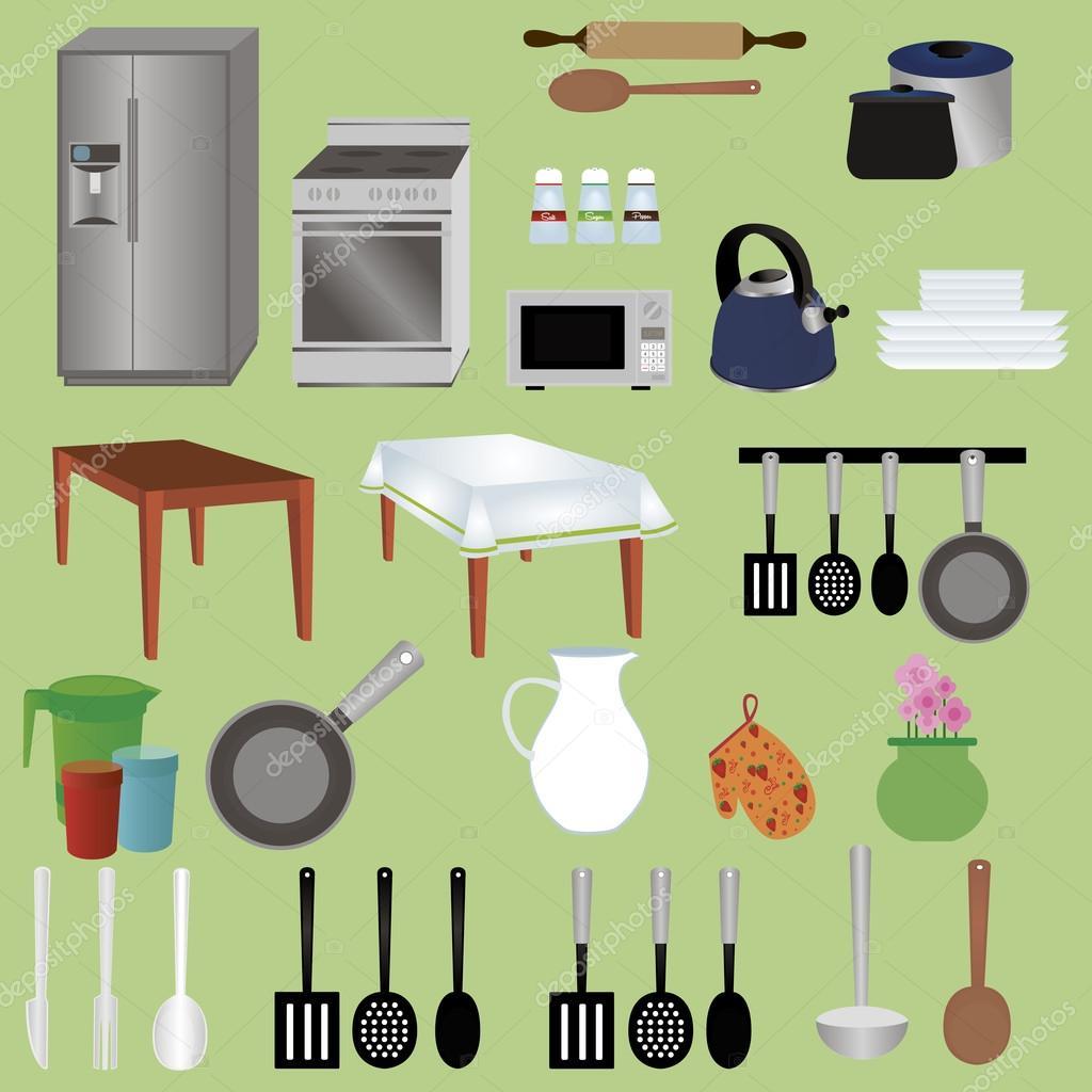 oggetti cucina — Vettoriali Stock © LAUDiseno #78542316