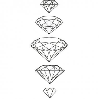 swag diamonds set. vector