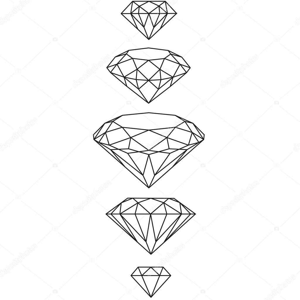 swag diamonds set. vector