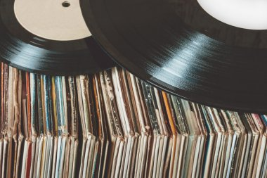 Old vinyl records