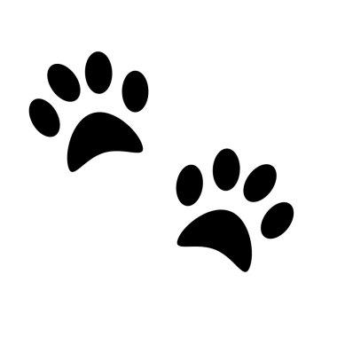 Dog's paw print. Pets icon. Vector illustration.