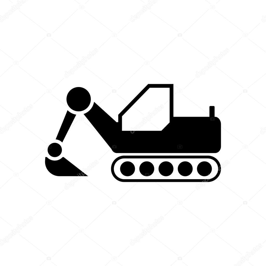 Znalezione obrazy dla zapytania buldożer ikona