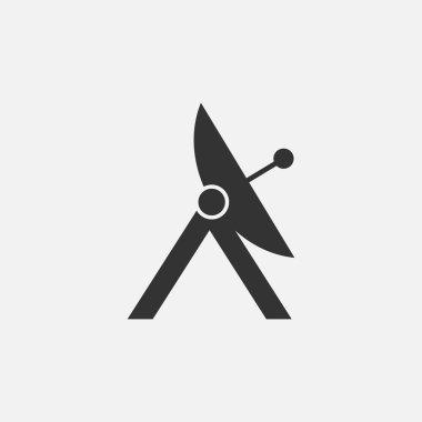 Satellite dish icon. Vector illustration