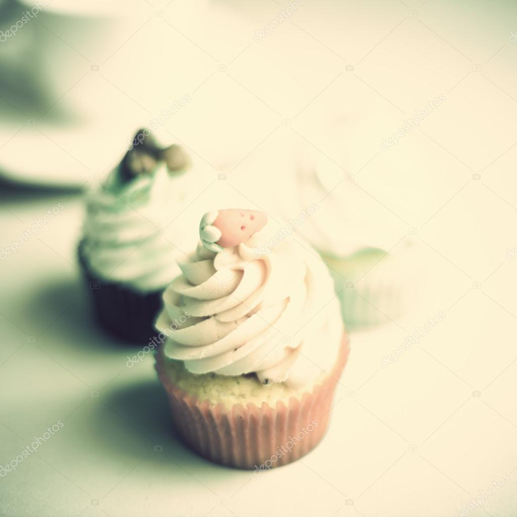 Cupcake vintage — Foto Stock © andrekaphoto #56170667