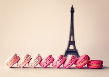 French macaroons and Eiffel tower