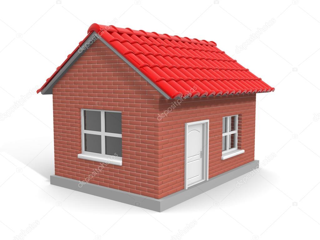 Modello della casa di mattoni foto stock orlaimagen for Casa vittoriana in mattoni