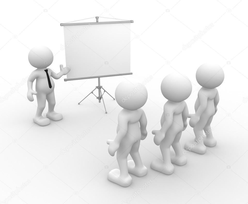 Men presenting at flip-chart
