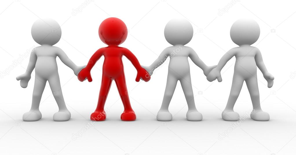 Technology Management Image: Business Team Holding Hands