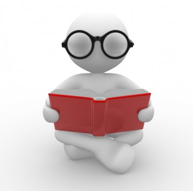 Man with a open book