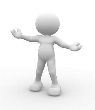Person with welcome gesture