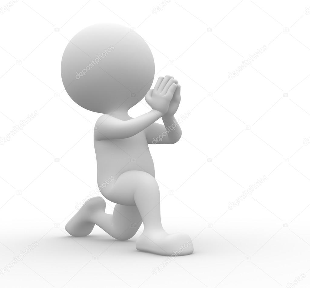 Persona de rodillas pidiendo perdón — Foto de stock © orlaimagen ...