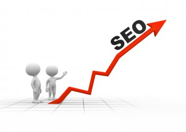 men and graph with word SEO