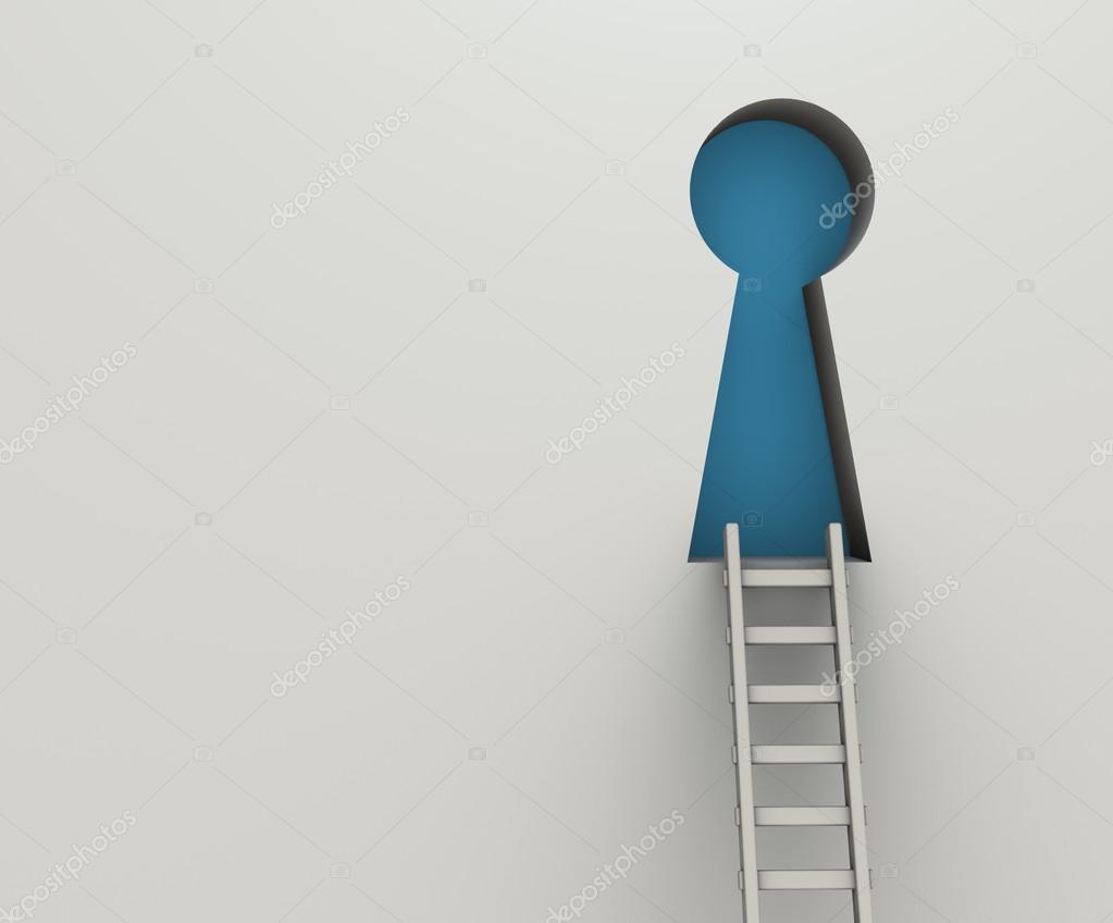 ladder to key hole