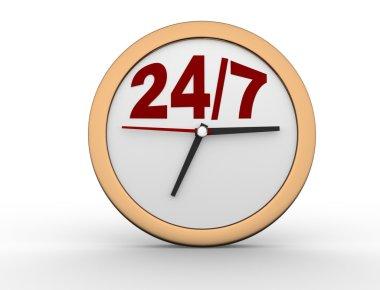 render 24/7 Clock button