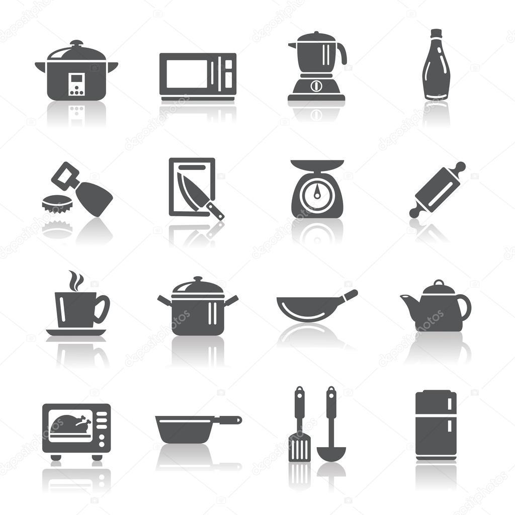 주방 용품 및 기구 아이콘 — 스톡 벡터 © godfather744431 #52343359