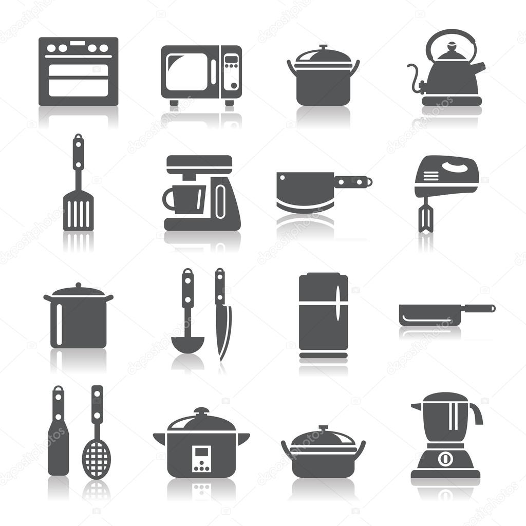 Uncategorized Different Kitchen Appliances kitchen utensils and appliances icons stock vector a collection of different kinds by godfather744431