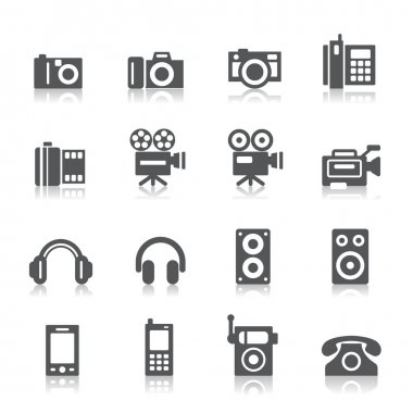 Photography and Sound Icons
