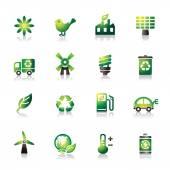 Fényképek környezetvédelmi színes ikonok