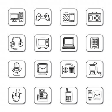 Digital Products Doodle Icons