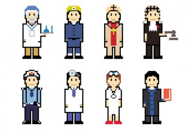 Pixel People Icons (Professionals)