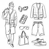 Photo Fashion Man with Clothing and Accessories