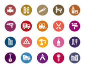 Gebäude und Gebäude farbige Symbole