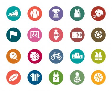 Sport Competition Color Icons