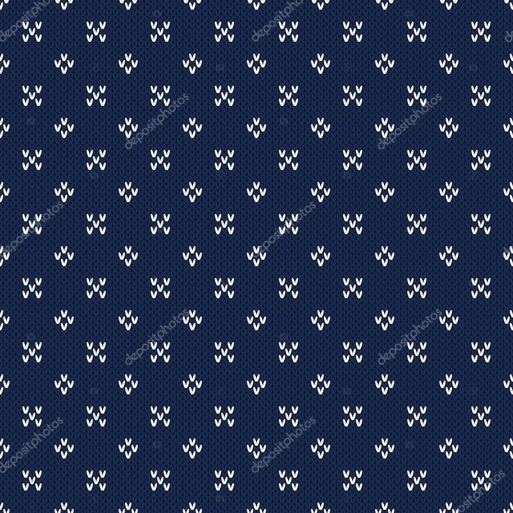 Seamless Knitting Pattern. Fair Isle Style Knitted Sweater Design ...