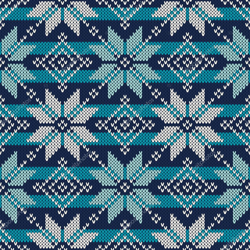 Diseño de suéter de punto de estilo Fair Isle. Patrón de punto sin ...