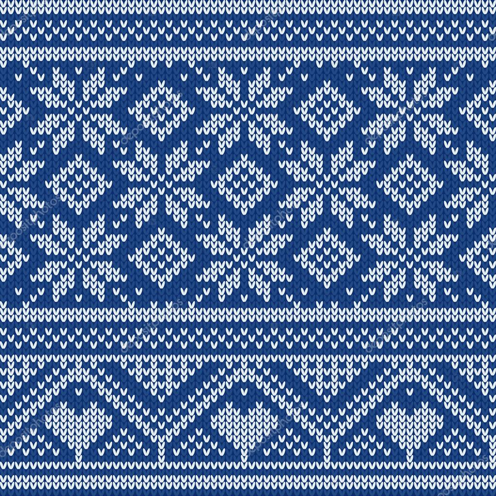 Seamless Christmas knitted pattern