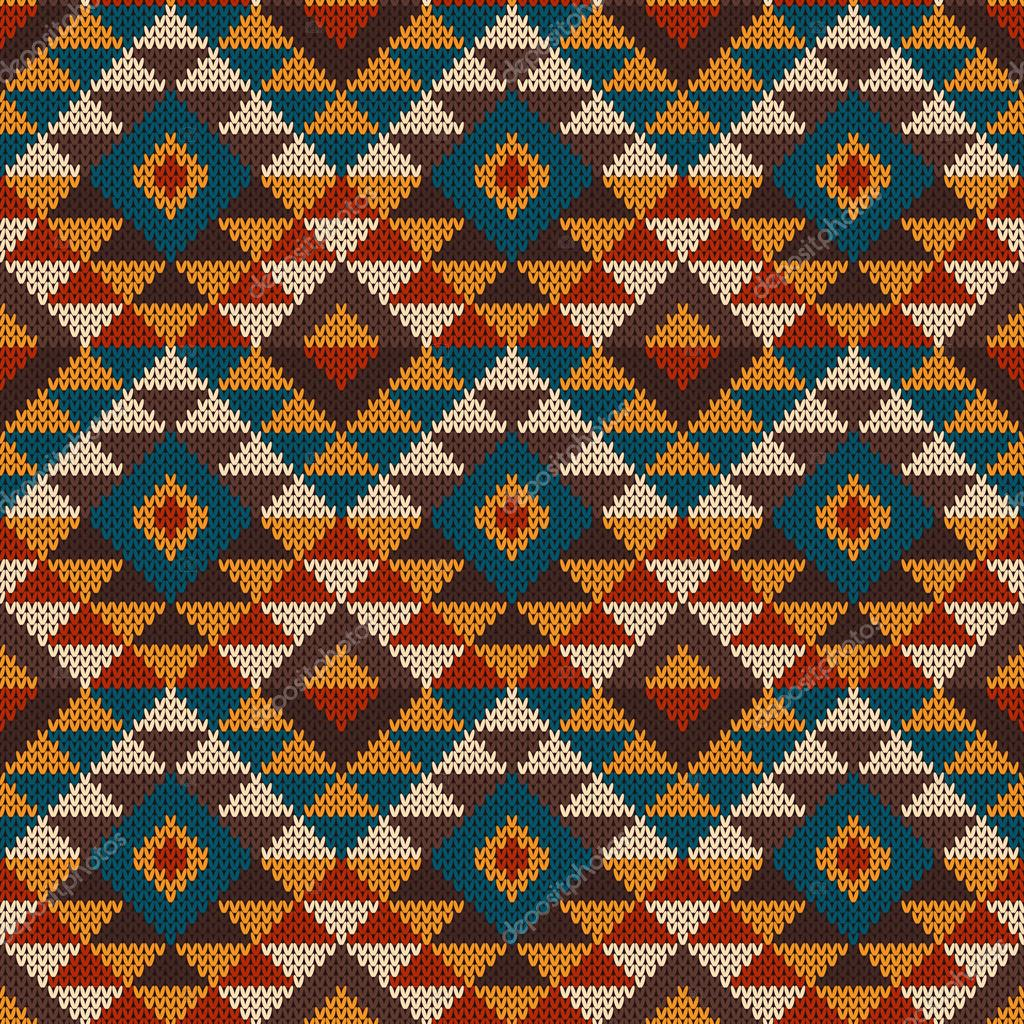 Traditional tribal aztec seamless pattern on the wool knitted vector illustration of seamless tribal knitted wool aztec design pattern eps available vector by atelieragonda dt1010fo