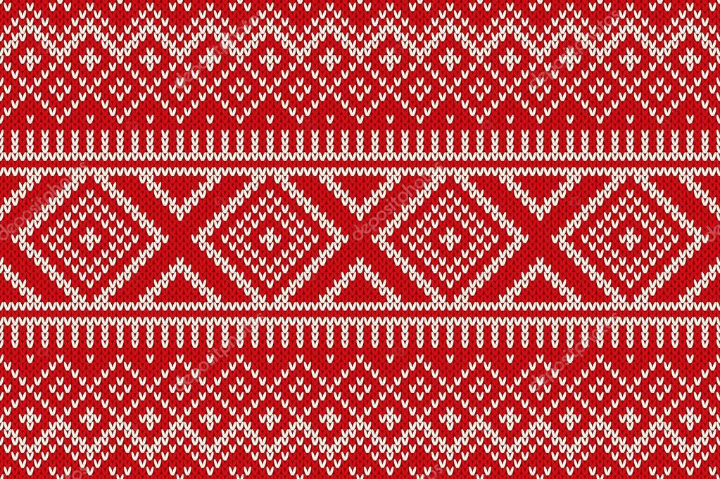 nordische traditionelle fair isle stil nahtlos gestrickte muster stockvektor - Fair Isle Muster