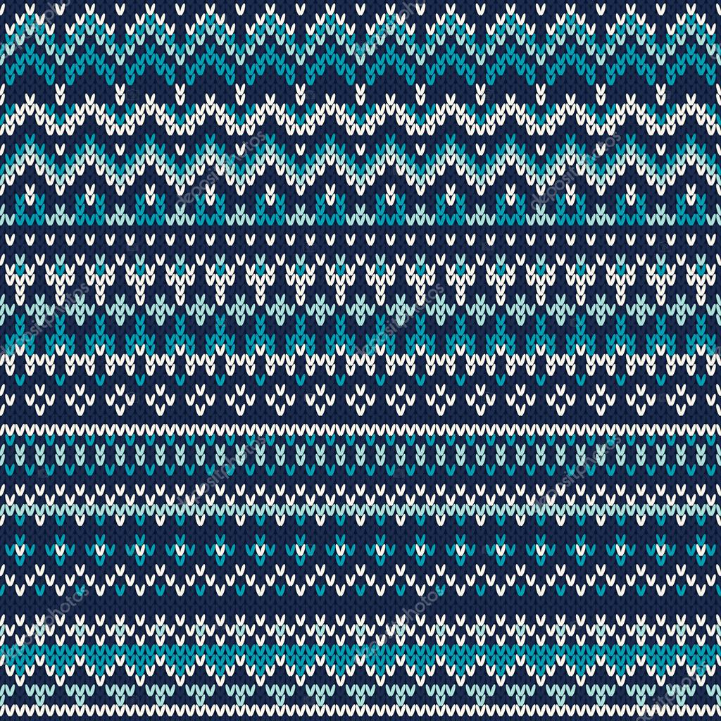 Seamless Fair Isle Knitted Pattern. Festive and Fashionable Sweater ...