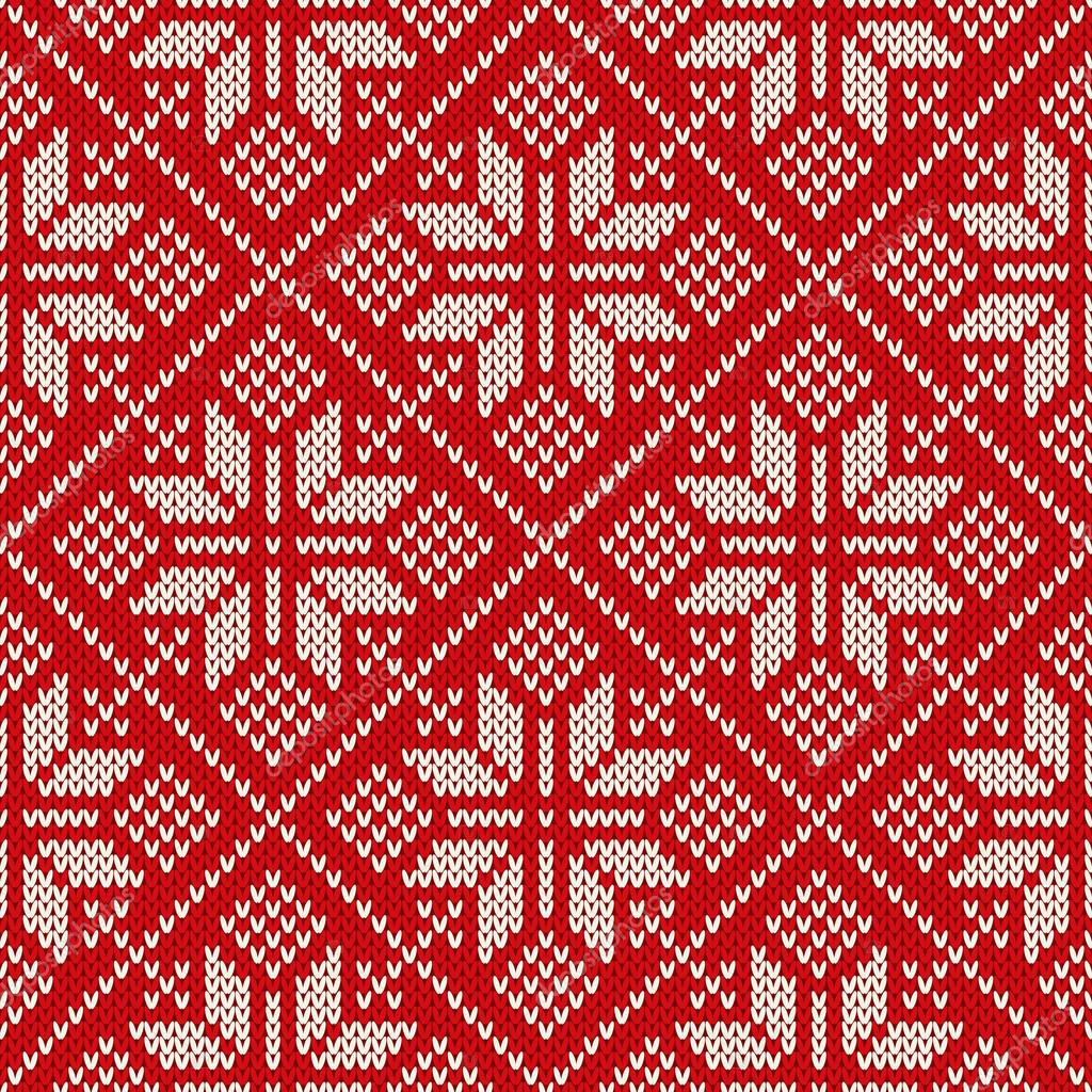 Christmas Knitting Background : Christmas sweater design on the wool knitted texture