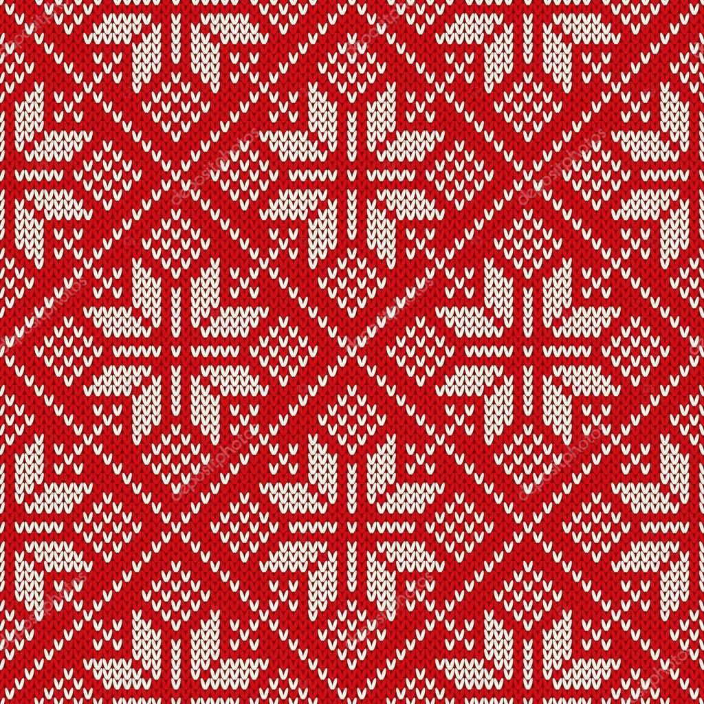 Kersttrui V En D.Kerst Trui Ontwerpen Op De Wol Gebreide Textuur Naadloze Patroon