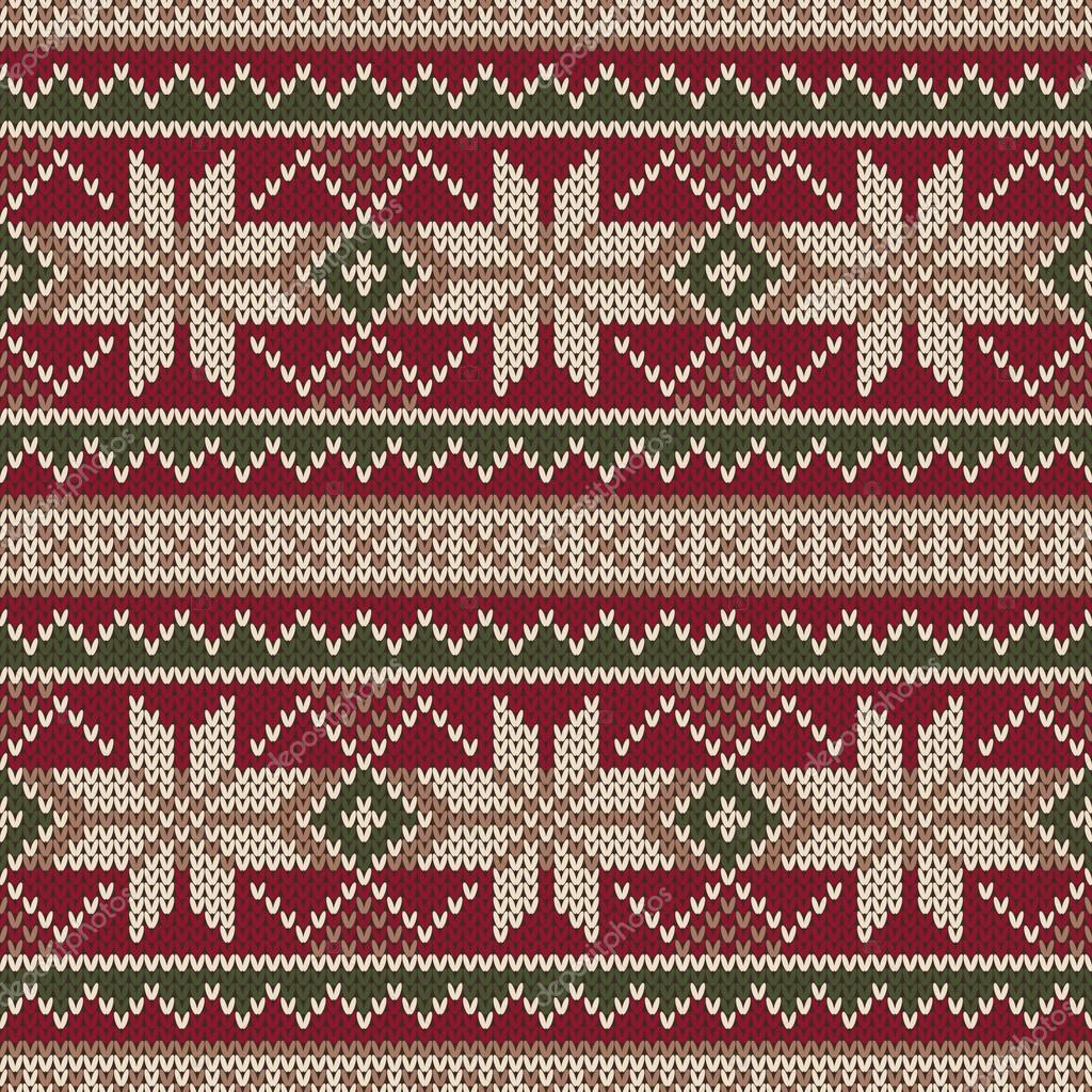 fe4dc6bd2693 Christmas Sweater Design. Seamless Knitting Pattern. Winter Holiday ...
