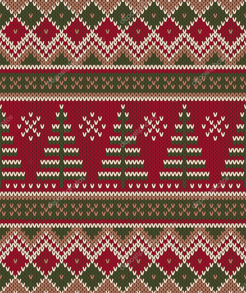 Christmas Sweater Design. Seamless Knitting Pattern ...